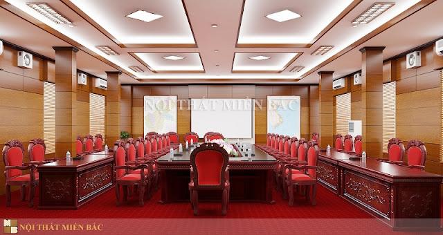 Trong thiết kế nội thất phòng họp việc sắp xếp và lựa chọn bàn ghế là vô cùng quan trọng nhằm mang đến sự chuyên nghiệp và hiệu quả