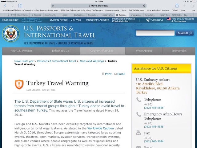 travel warning dari kemlu Amerika