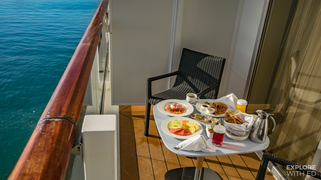Breakfast on your private veranda, Viking Cruise Room Service