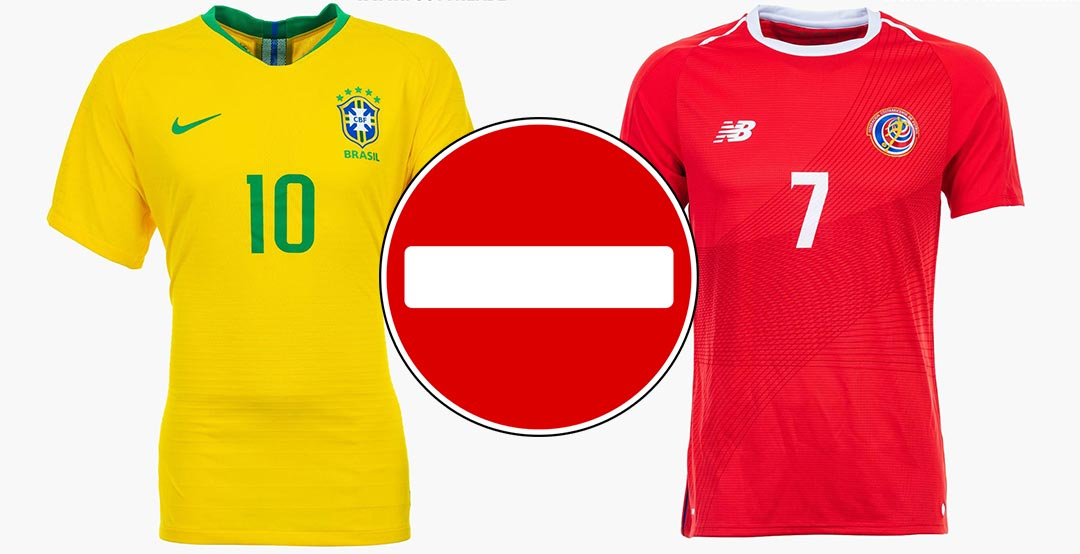 2c7fed877 Now it has been revealed that FIFA has yet again made a quite odd decision  as both Brazil and Costa Rica will use their away kits in tomorrow s 2018  World ...