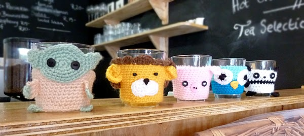 Restaurant Review: Parc Cafe - another awesome Durban spot  - cute knitted animal character mug jerseys!