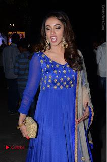 Telugu Actress Tejaswi Madivada Pos in Blue Long Dress at Nanna Nenu Na Boyfriends Audio Launch  0084.JPG