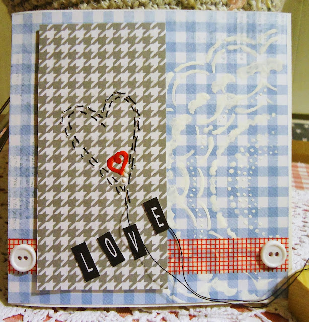 kartka love, scrapbooking