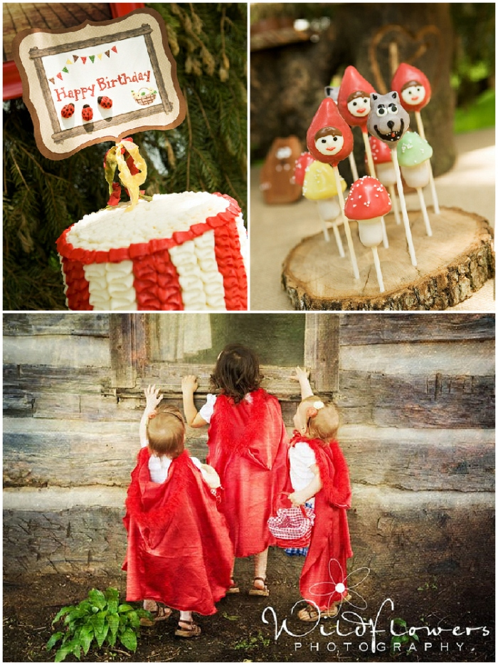 A Cute Little Red Riding Hood Birthday Party - via BirdsParty.com