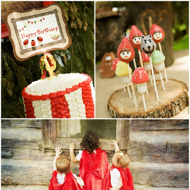 A Cute Little Red Riding Hood Birthday Party