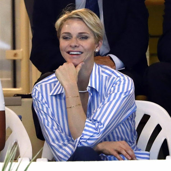 Princess Charlene diamond necklace