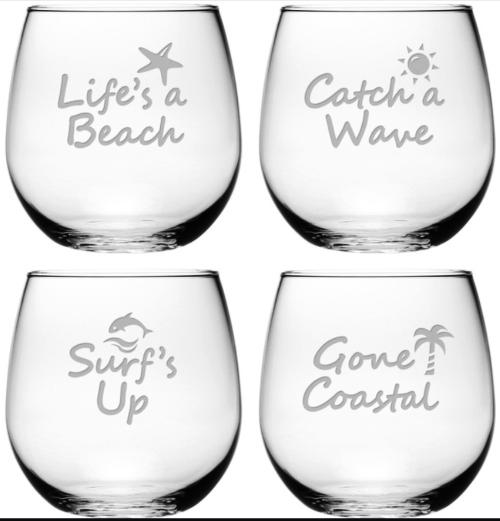 Beach Quote Glasses Glassware