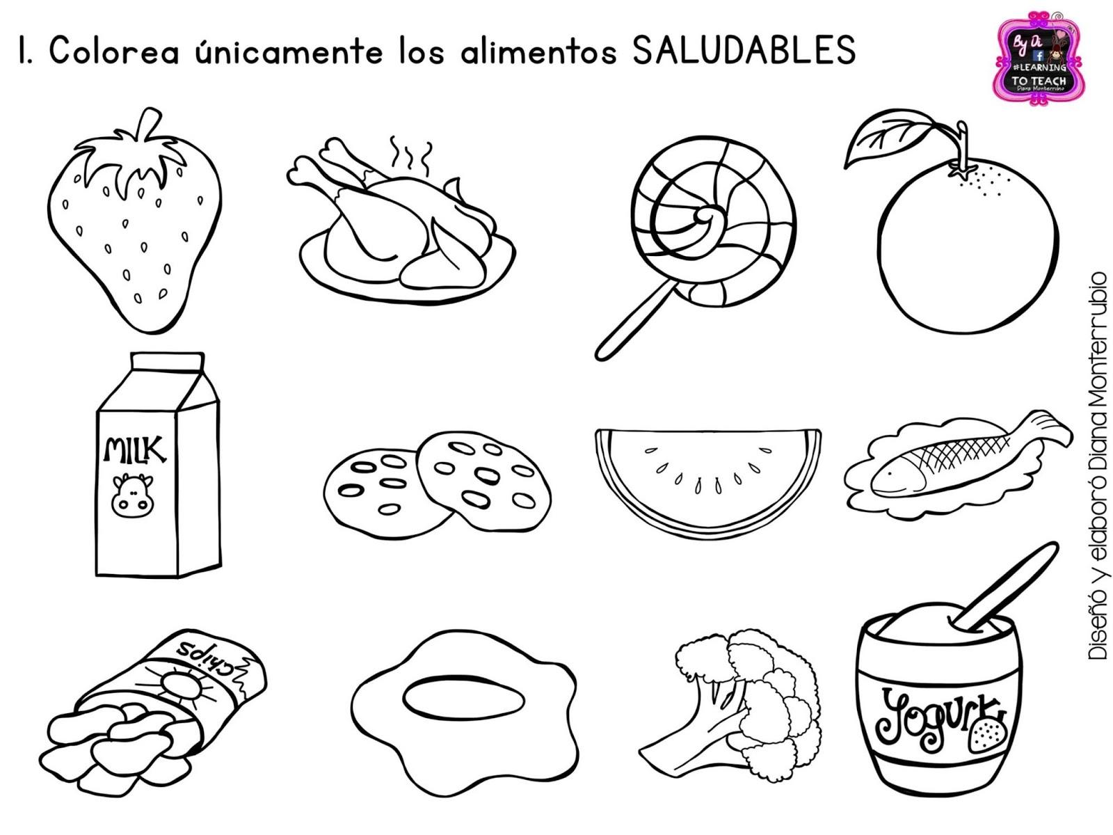 Imagenes Para Colorear Alimentos Saludables – Solo otras ideas de ...