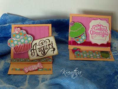 bigliettino d'auguri con muffin e cupcake