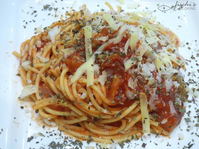 fischiscooking, spaghetti alla napoletana, spaghetti mit tomatensauce