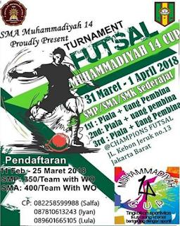 Turnament Futsal Muhammadiyah 14 Cup 2018 Jakarta