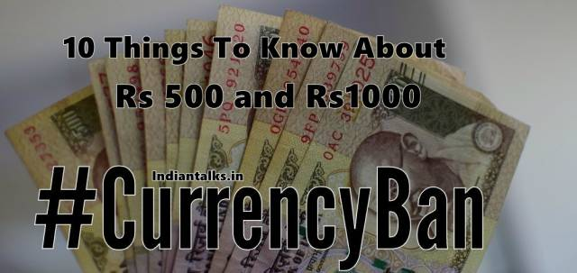 Currency Ban in india