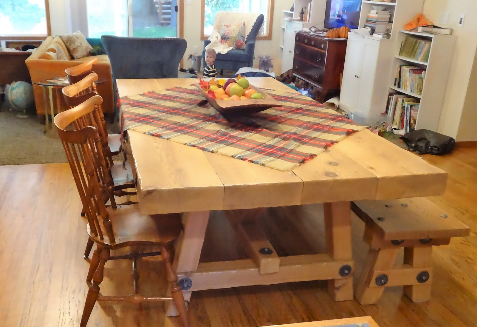 Good Our New Farmhouse Table And Matching Bench Dishes And Designs With Farmhouse  Tables.