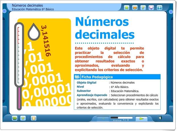 """""""Números decimales"""" (Matemáticas de 6º de Primaria)"""