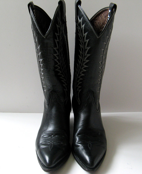 Black Cowboy Boots Mia Womens Boots Size 7 5