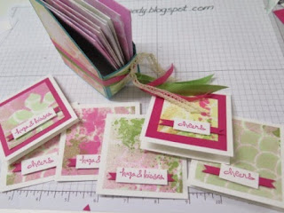 spritzed gift cards Zena Kennedy Stampin Up independent demonstrator