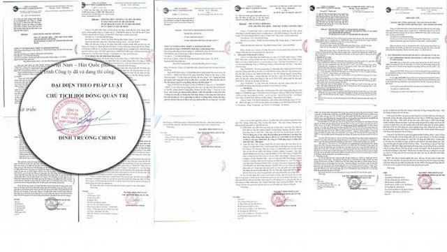 chữ ký của Chủ tịch HĐQT HDTC