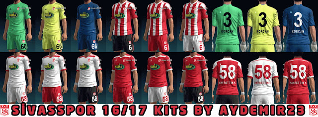 PES 2013 SIVASSPOR UPDATE 16/17 KITS BY AYDEMIR23