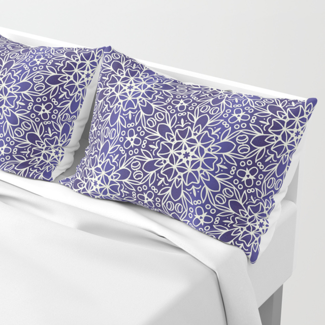 Midnight Flowers Pillow Sham Society6