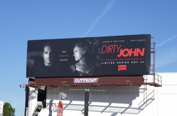 Dirty John series launch billboard