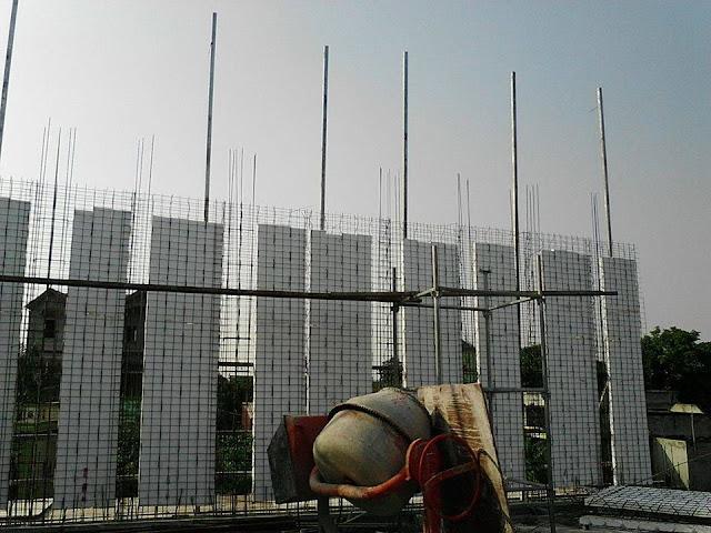 Thi công tường 3D chịu lực