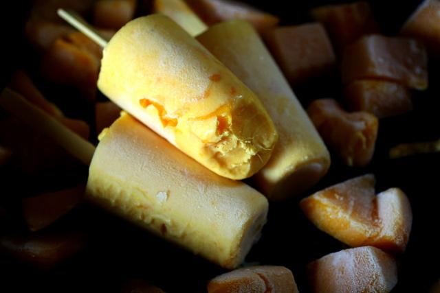 mango popsicle / ice cream