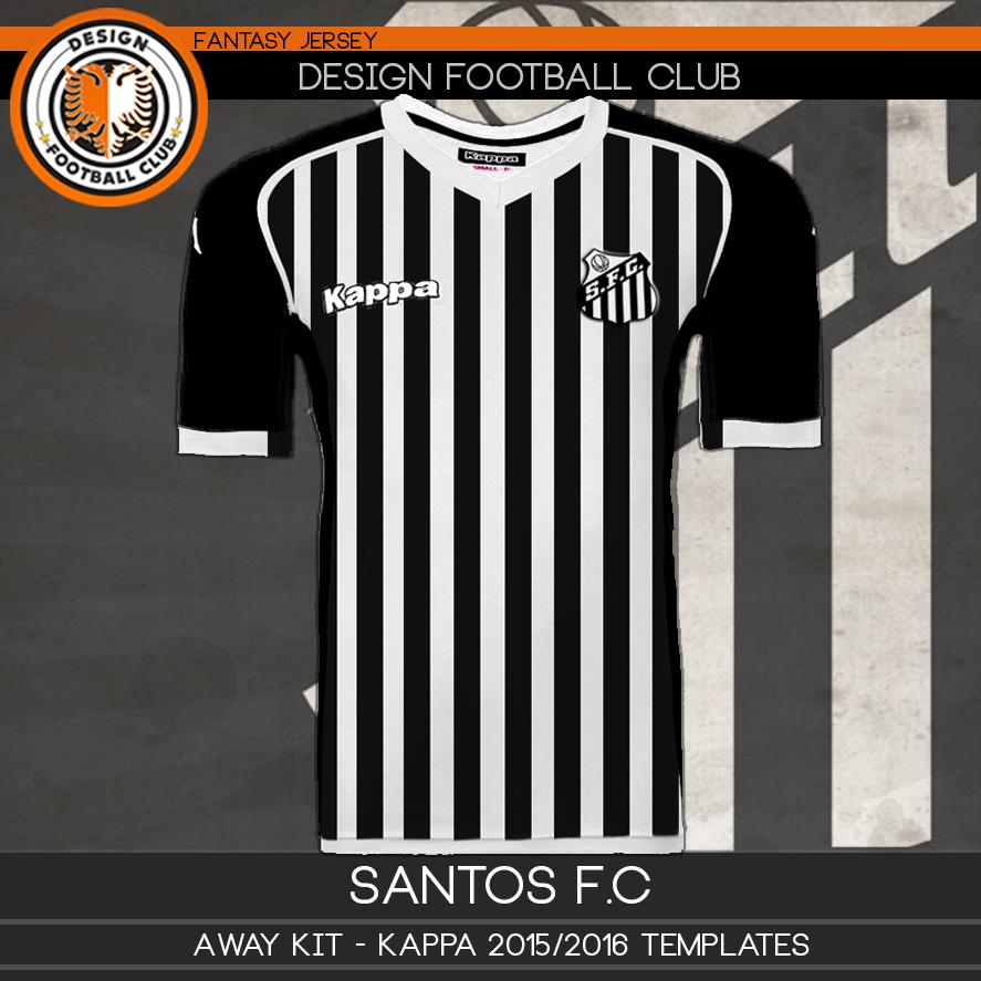 761054d53ff0d Kappa Veste Santos Club Football 2016 Design Em p04AHqnWw