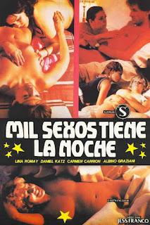 affiche de MIL SEXOS TIENE LA NOCHE film érotique de Jess Franco avec Lina Romay