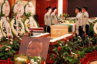 Tears Flow At Memorial Service Held For Late Footballer, Cheick Tiote In China (Photos)