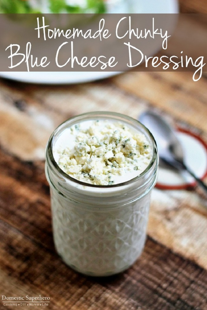 The Best Ever Homemade Chunky Blue Cheese Dressing