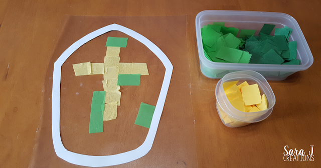 St. Patrick's Miter is the perfect craft for Catholic kids. This stained glass craft is perfect for decorating for St. Patrick's Day.