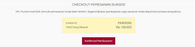 Belanja Online Souvenir Aceh di MallAceh, Konfirmasi pembayaran