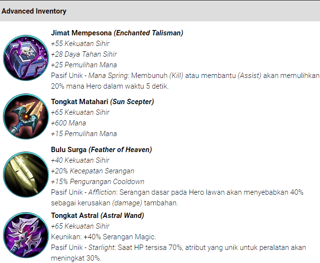 Item (Magic) Sihir Mobile Legends : Bang bang