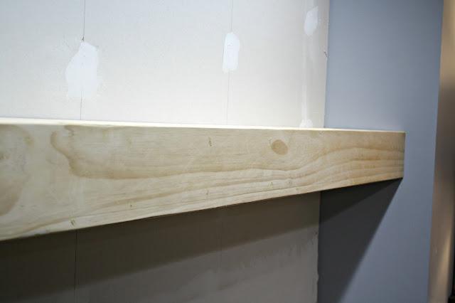 chunky wood mantel