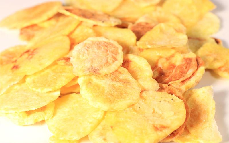 Papas chips en microondas sin aceite