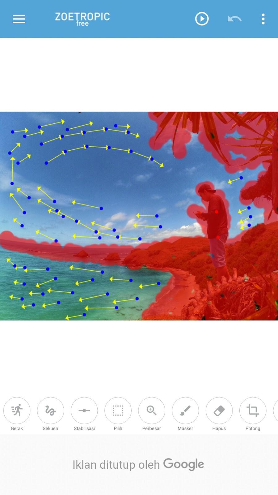 Cara Menciptakan Foto Awan Dan Bahari Bergerak Tanpa ...