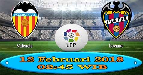 Prediksi Bola855 Valencia vs Levante 12 Februari 2018