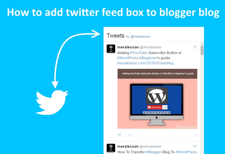 twitter feed blogger