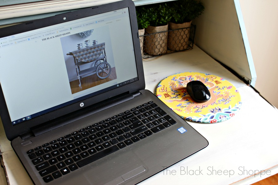 Project by The Black Sheep Shoppe shown on laptop screen.