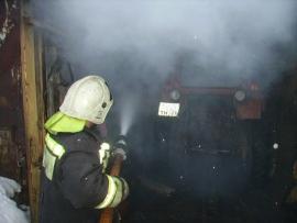 Пожар в поселке Алтынай