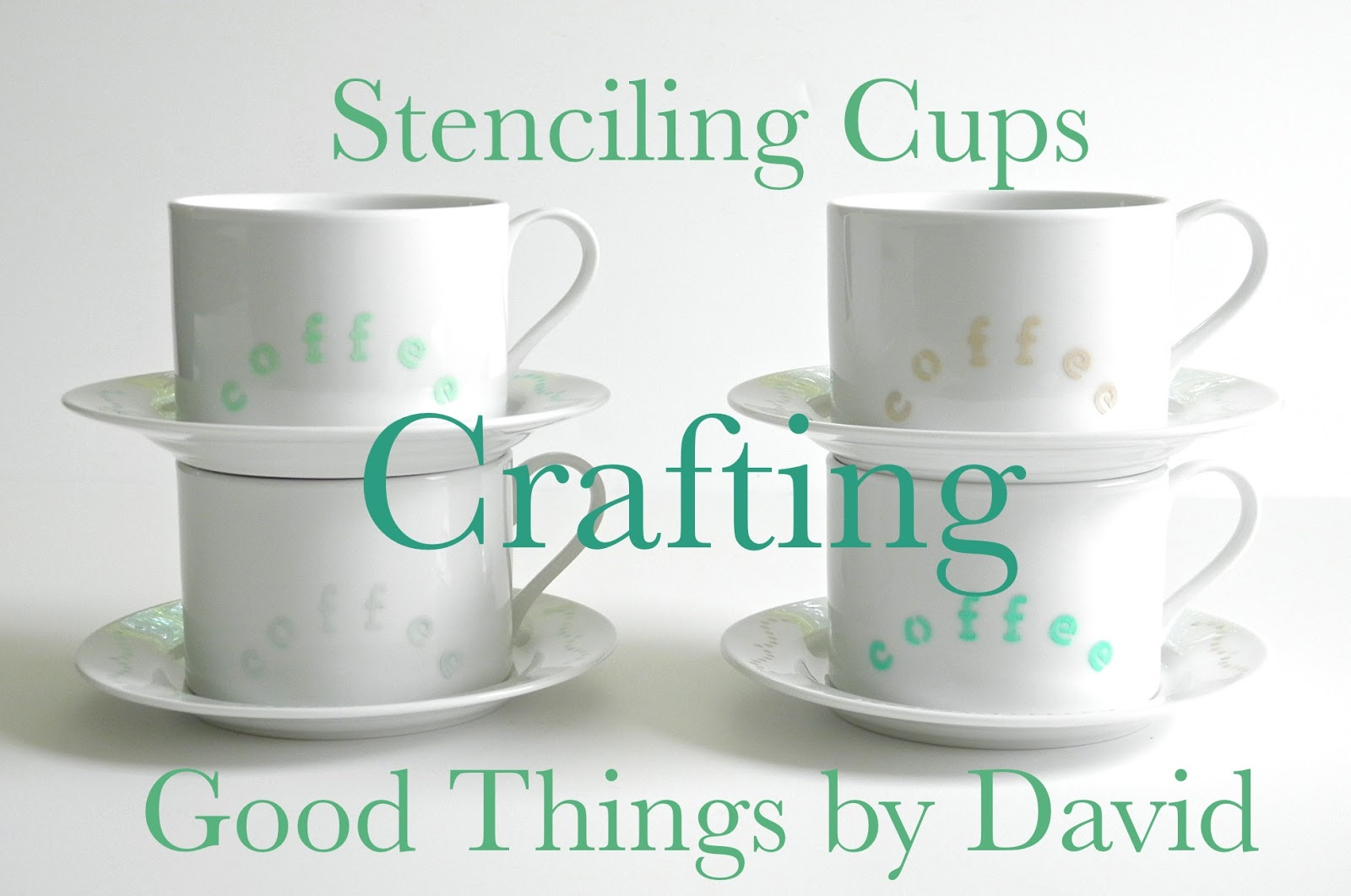 Stenciling Cups