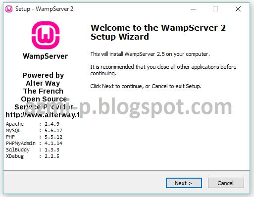 wampserver 2.5 32 bits