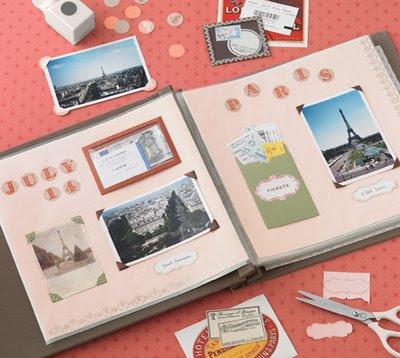 Álbum com fotos de viagem