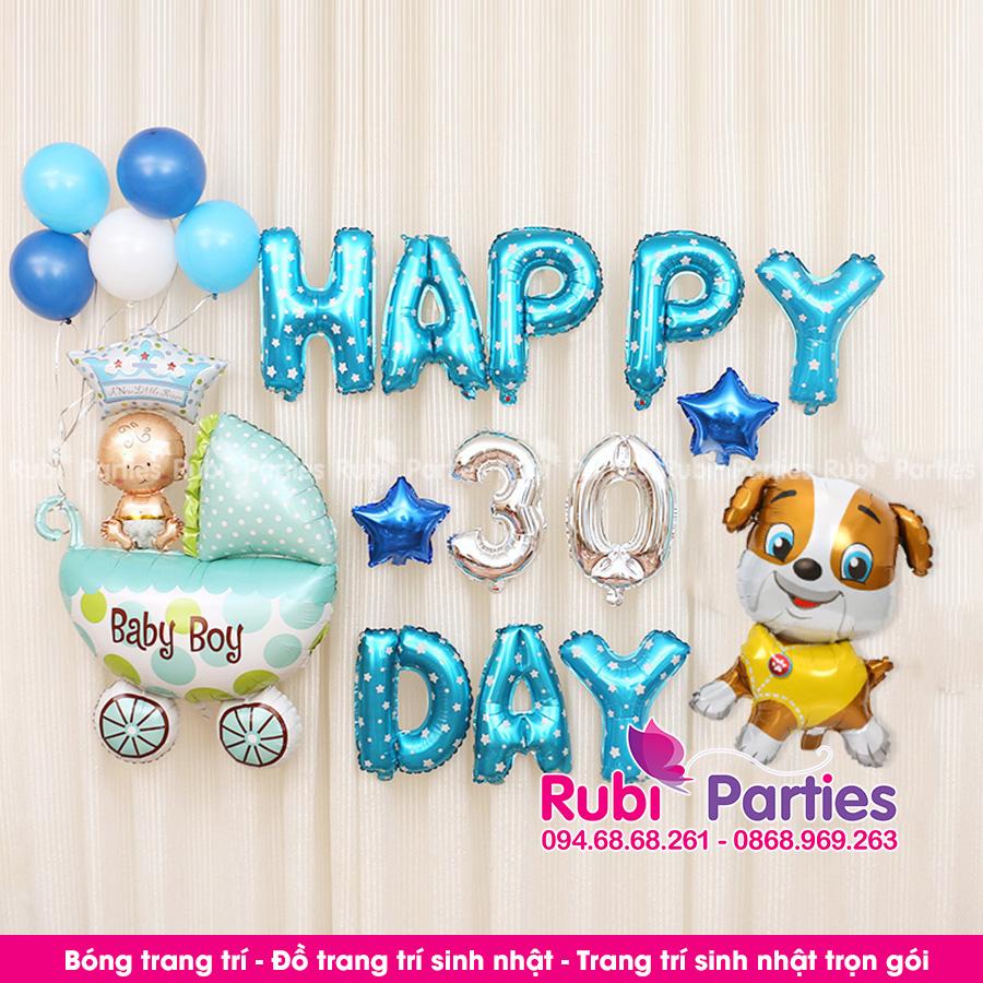 Bong trang tri day thang cho be o Phuc Loi