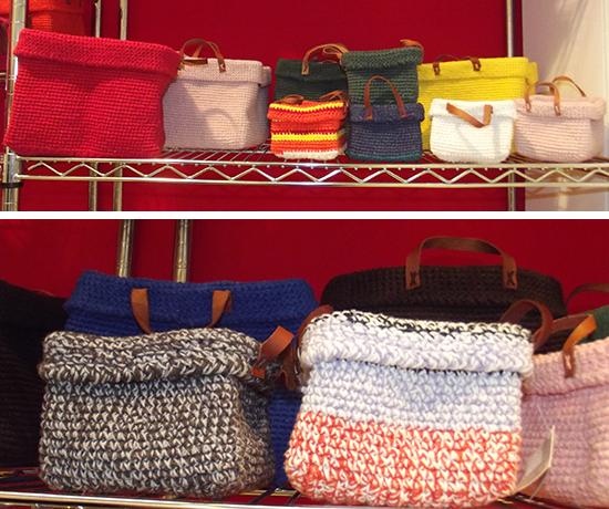 cestas de tricô, a casa eh sua, craft design, decoração, decor