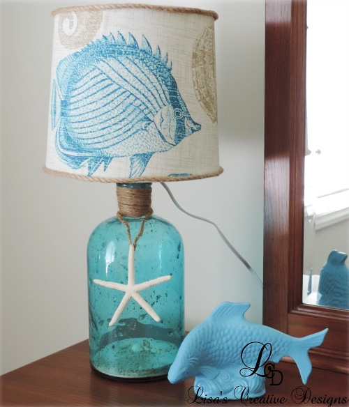 DIY Coastal Bottle Lamp