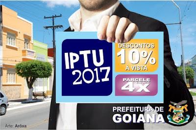 Prefeitura lança calendário do IPTU 2017 em Goiana