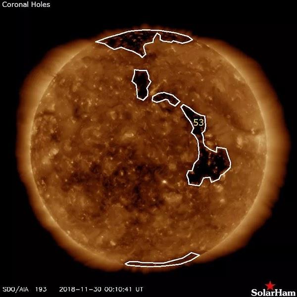 Viento solar esta afectando a la tierra.
