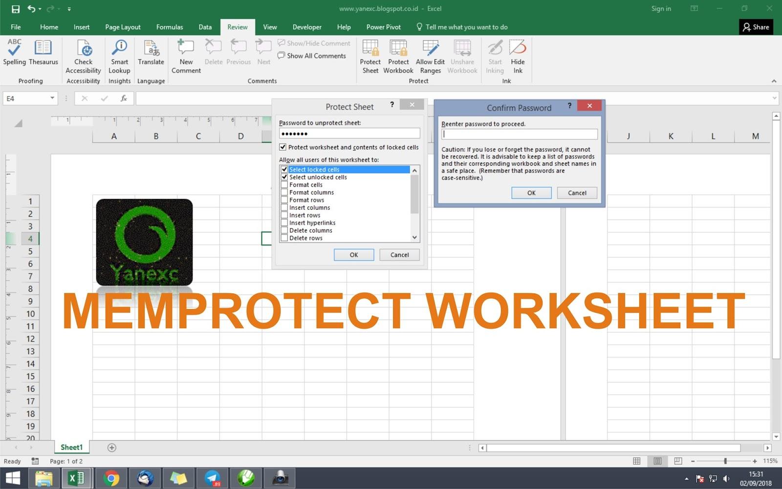 Melindungi Atau Memprotect Worksheet Cari Tahu Tentang Excel
