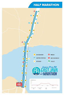 Rute Jawa Post Fit East Java Half Marathon 2016 Surabaya
